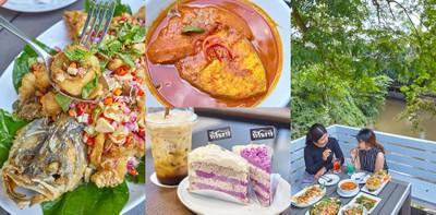 ร้านอาหารไทยริมน้ำรสชาติถึงเครื่อง ที่ระรินธาร ปากช่อง โคราช