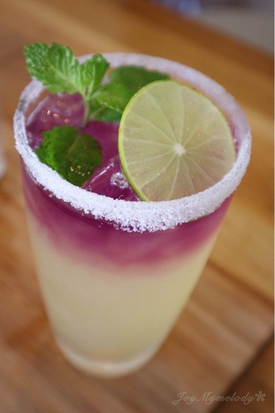 Butterfly Peas, Lemon Ice Soda