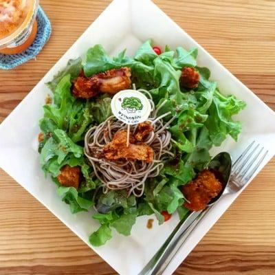 Soba and Chicken karage salad