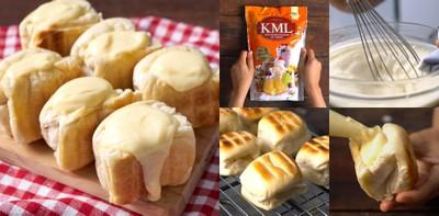"""วิธีทำ """"ขนมปังปิ้งไส้นมสด"""" เมนูขนมปังง่าย ๆ ทำกินเองได้ ทำขายปัง!"""