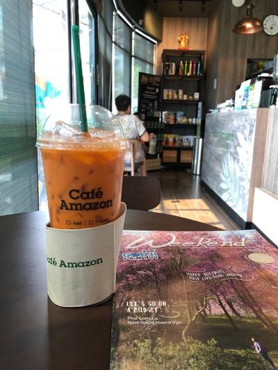 Café Amazon (คาเฟ่ อเมซอน) แลนด์มาร์ค มหาชัย