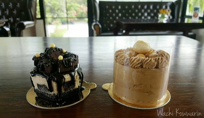 Brownie Cheese Cake • รูปคู่ at PaulSugus' Farm Cafe ซ.กาญจนาภิเษก 7