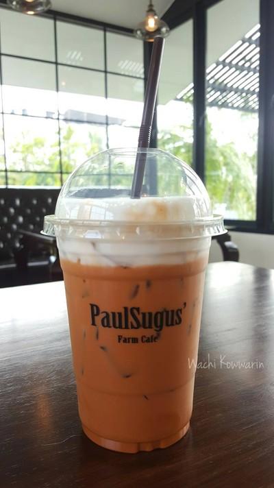 ชานมเย็น • ราคา 90 บาท at PaulSugus' Farm Cafe ซ.กาญจนาภิเษก 7