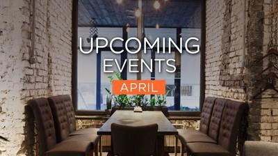 Upcoming Events ประจำเดือนเมษายนมาแล้วจ้า!