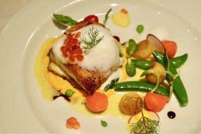 Grilled Snow Fish With Lemon Cream Sauce