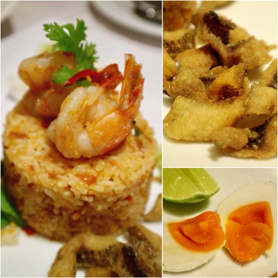 Fried Rice with Fresh Shrimp Paste ข้าวผัดน้ำพริกกุ้งสด