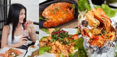 สามมุขคาเฟ่ บางแสน ร้านอาหารไทย บรรยากาศสุดชิลล์วิวทะเล บางแสน