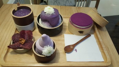 Purple Sweet Potato Icecream & Tiramisu