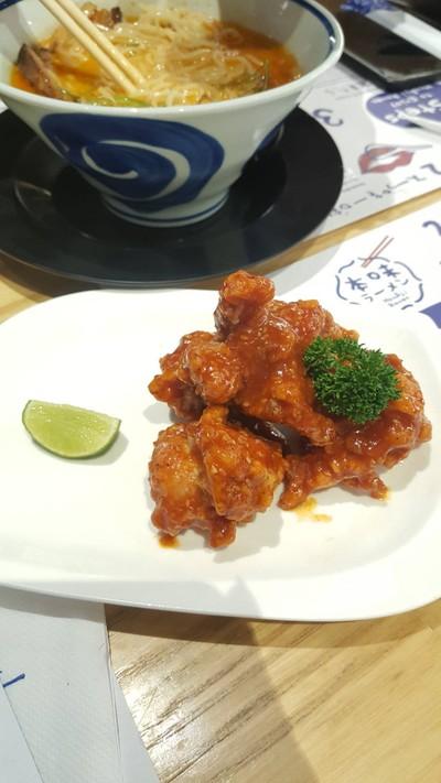 ไก่ทอดคาราอะเกะราดซอสโกชูจัง