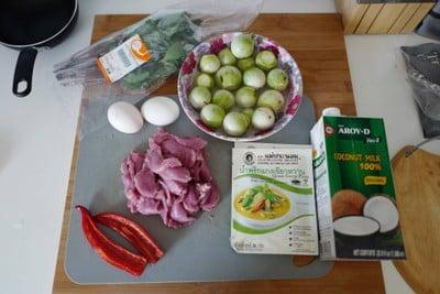 วิธีทำ แกงเขียวหวาน สันในหมู