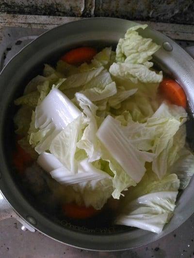 วิธีทำ แกงจืดผักกาดขาวหมูสับวุ้นเส้น