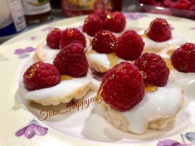 Raspberry Yoghurt Bites