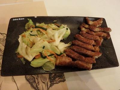 ชุดสเต็กหมูคุโรบูตะ ที่ ร้านอาหาร Kobe Steakhouse อาคารสยามกิตต์