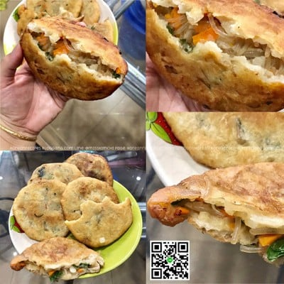 야채호떡 ยาแช่โฮต๊อก/Yachae-hotteok ขนมโฮต๊อกไส้ผักและวุ้นเส้น