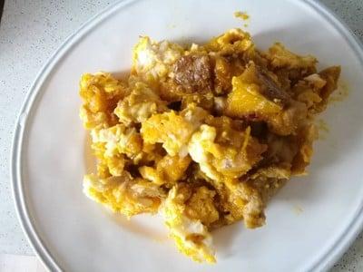 ฟักทองผัดไข่โบราณ สูตรคุณยายร้านขายข้าวแกง