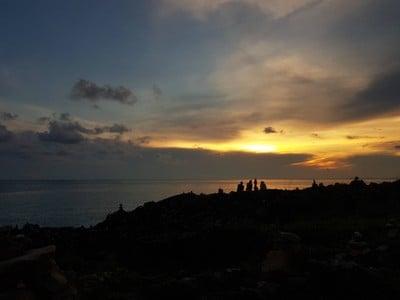 พระอาทิตย์ตกแล้ววว แต่เมฆบังอดเห็นพระอาทิตย์จมน้ำเลย