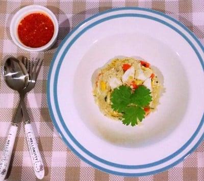 ข้าวผัดปู สูตรเด็กน้อย