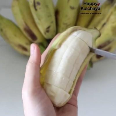 วิธีทำ กล้วยทับน้ำกะทิ