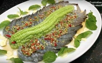 กุ้งแช่น้ำปลา