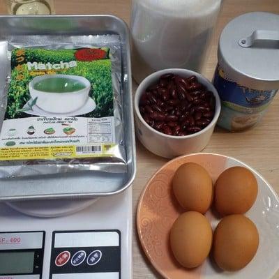 วิธีทำ โรลชาเขียว macha ถั่วแดง (หม้ออบลมร้อน)