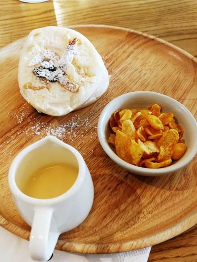 Fluffy Almond & Raisins Souffle Pancake