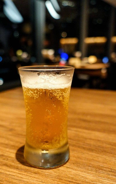 Long shot of -1 degree Sapporo Beer