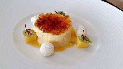 Passion Fruit Crème Brulee, and Coconut Meringue