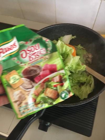 วิธีทำ ผักกาดขาวผัดหมูสับ