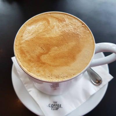 Flat White Coffee • ฿125++ ที่ ร้านอาหาร The Coffee Club Riverside Plaza