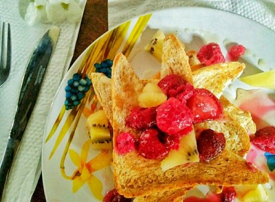 French toast 🍞🍒🍯
