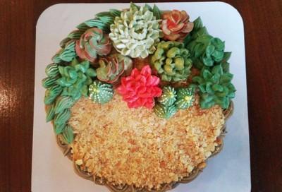 เค้กแคคตัส • ยกสวนแคคตัสมาให้ได้ชิมกัน ที่ ร้านอาหาร ชาลีเบเกอรี่