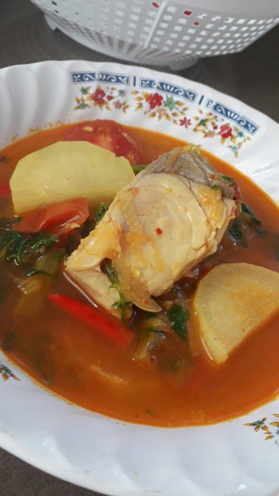 แกงหัวผักกาดใส่ปลา(แกงน้ำมัน)