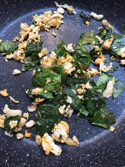 วิธีทำ ใบเหลียงผัดไข่