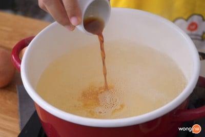 วิธีทำ ซุปมักกะโรนีแฮมเส้น