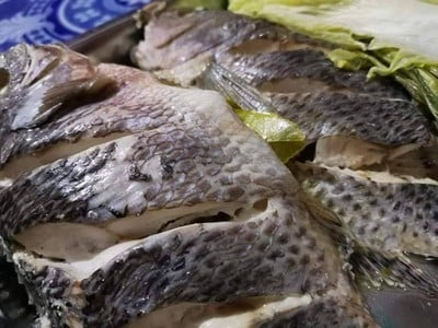 นึ่งปลา สูตรอีสาน
