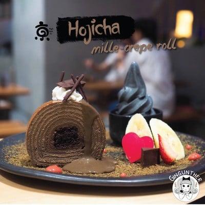 Hojicha Mille-Crepe Roll Set