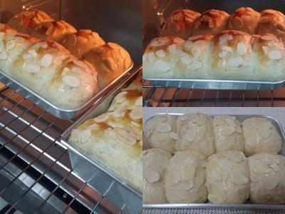 ขนมปังโฮลวีต อัลมอนด์เนยสด