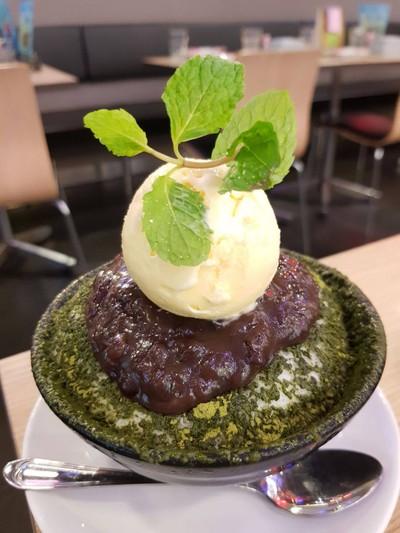 Red Bean And Green Tea Kakigori
