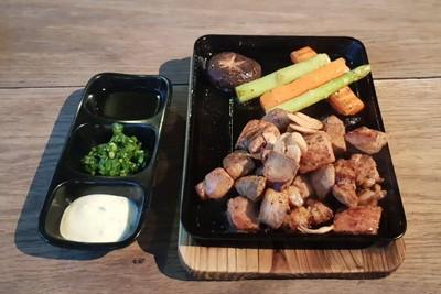 Kurobuta Steak With Foie Gras