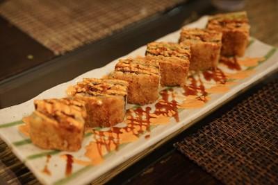 Spicy salmon fried sandwich