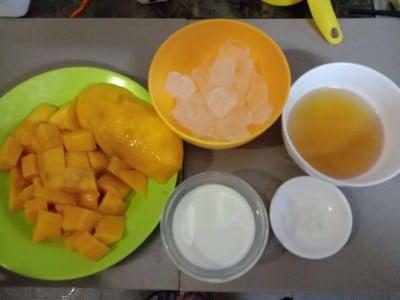 วิธีทำ น้ำมะม่วงปั่น (MangoSmoothies)
