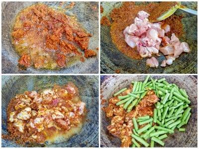 วิธีทำ ผัดพริกถั่วฝักยาวใส่ไก่