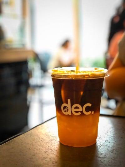 Blacked Coffee Orange Juice Soda