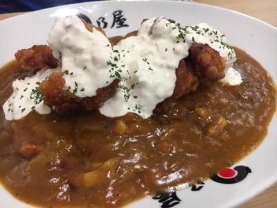 ข้าวแกงกะหรี่เนื้อ ไก่ทอดซอสนัมบัง