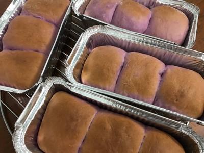วิธีทำ ขนมปังเนยโสดมันม่วง