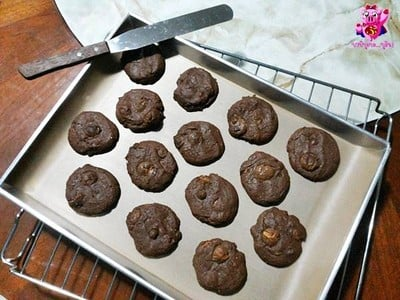 Double Malt Chocolate Cookies