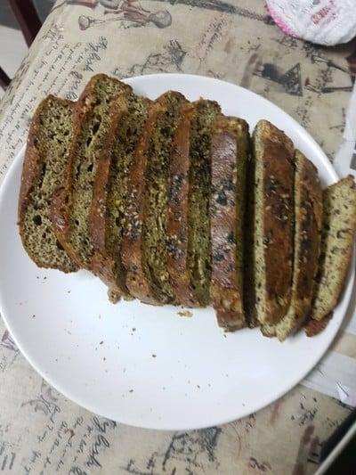 ขนมปังชาเขียวไร้แป้ง