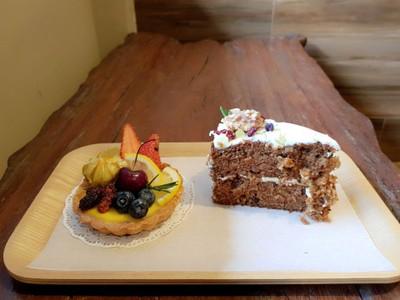 Lemon Tart + Carrot Cake