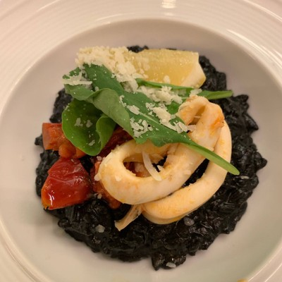 Seafood Ink Risotto