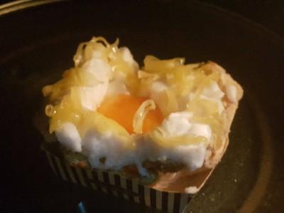 วิธีทำ ขนมปังไข่ดาว ซูเฟล่  อบด้วยไมโครเวฟ